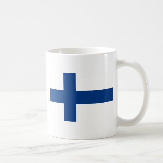 Flag of Finland (Suomen lippu, Finlands flagga) Coffee Mug