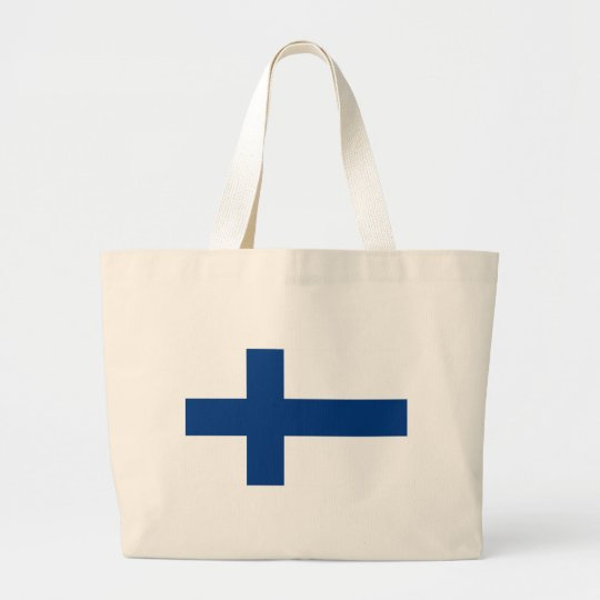 Flag of Finland (Suomen lippu, Finlands flagga) Large Tote Bag