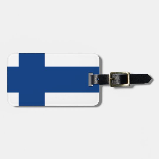 Flag of Finland (Suomen lippu, Finlands flagga) Luggage Tag