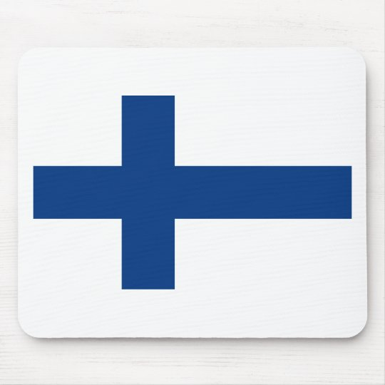 Flag of Finland (Suomen lippu, Finlands flagga) Mouse Pad