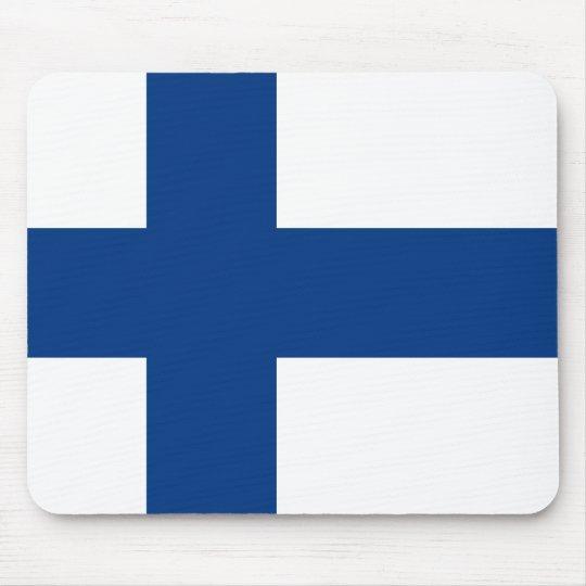 Flag of Finland (Suomen lippu, Finlands flagga) Mouse Pad