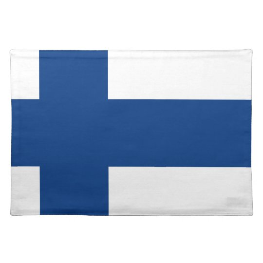 Flag of Finland (Suomen lippu, Finlands flagga) Placemat