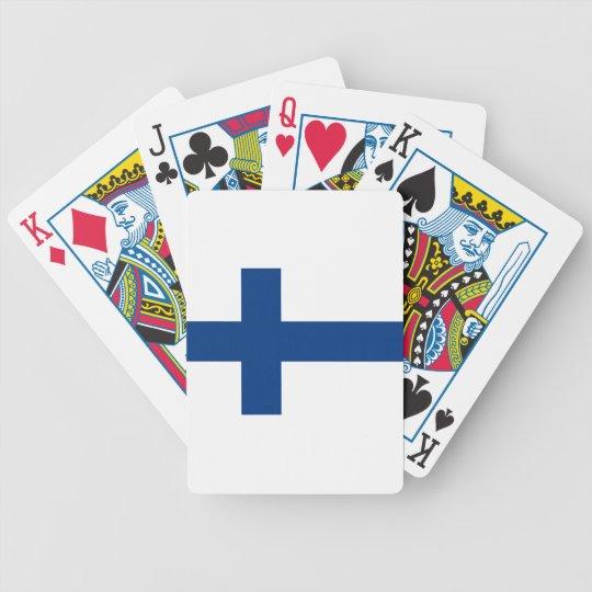 Flag of Finland (Suomen lippu, Finlands flagga) Poker Deck