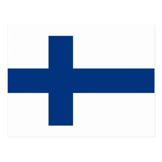 Flag of Finland (Suomen lippu, Finlands flagga) Postcard