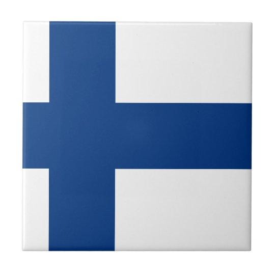 Flag of Finland (Suomen lippu, Finlands flagga) Small Square Tile