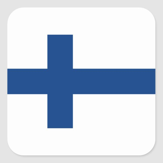 Flag of Finland (Suomen lippu, Finlands flagga) Square Sticker
