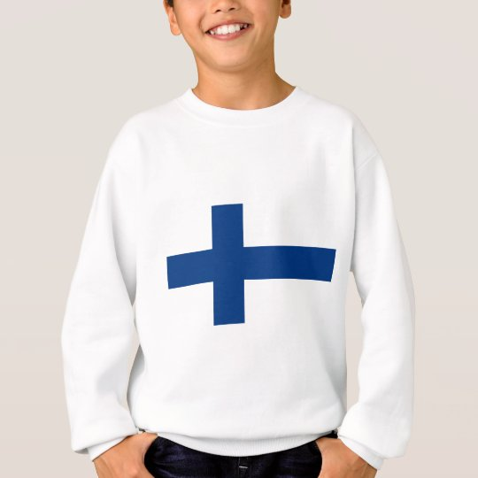Flag of Finland (Suomen lippu, Finlands flagga) Sweatshirt