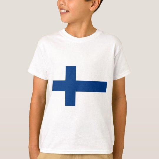 Flag of Finland (Suomen lippu, Finlands flagga) T-Shirt