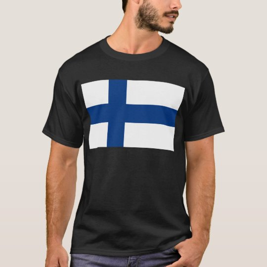Flag of Finland (Suomen lippu, Finlands flagga) T-Shirt
