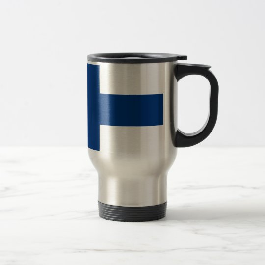 Flag of Finland (Suomen lippu, Finlands flagga) Travel Mug