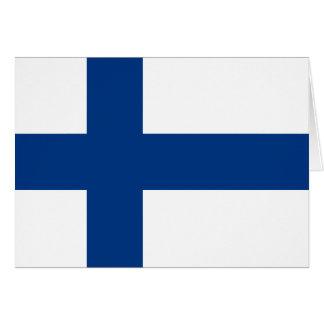 Flag of Finland - Suomen lippu - Finnish Flag Card