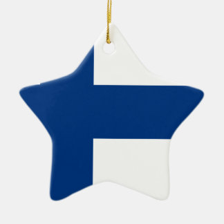 Flag of Finland - Suomen lippu - Finnish Flag Ceramic Ornament