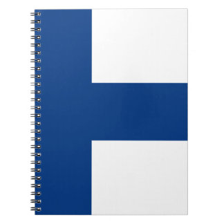 Flag of Finland - Suomen lippu - Finnish Flag Spiral Notebook