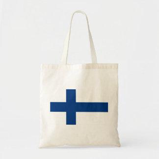 Flag of Finland - Suomen lippu - Finnish Flag Tote Bag