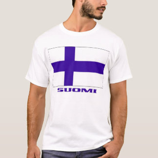"Flag of Finland + ""Suomi"" Finnish-American T-shirt"