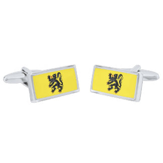 Flag of Flanders Cufflinks Silver Finish Cuff Links