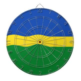 Flag of Flevoland Dartboard With Darts