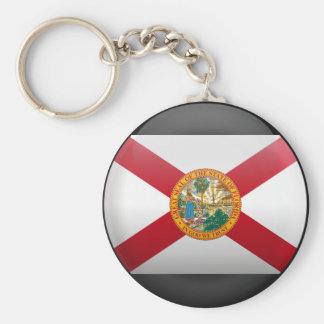 Flag of Florida Basic Round Button Key Ring