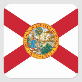 Flag of Florida Square Sticker