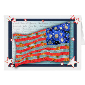Flag of Flowers- American Flag Greeting Card
