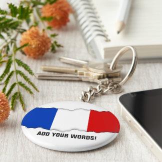Flag of France Basic Round Button Key Ring