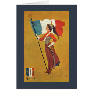 Flag of France Card