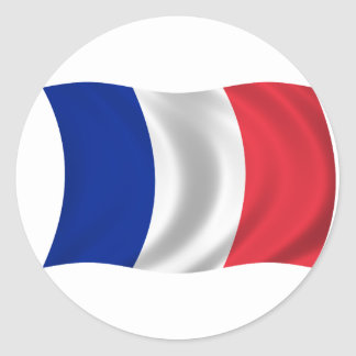 Flag of France Classic Round Sticker