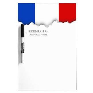 Flag of France Dry Erase Board
