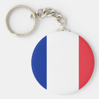 Flag of France; French Flag, Drapeau de la France Key Ring