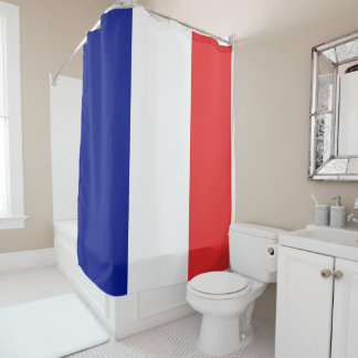 Flag of France French Tricolore Shower Curtain