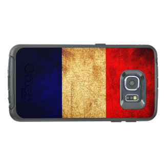 Flag of France in Grunge OtterBox Samsung Galaxy S6 Edge Case