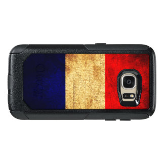 Flag of France in Grunge OtterBox Samsung Galaxy S7 Case