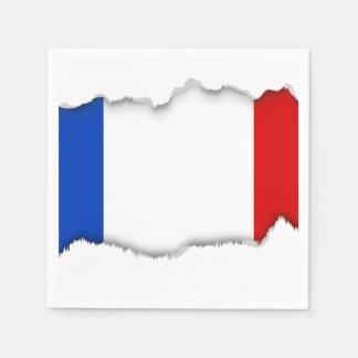 Flag of France Paper Napkin