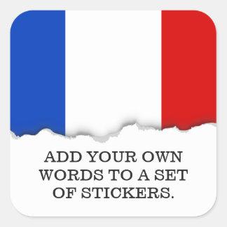 Flag of France Square Sticker