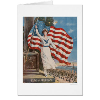 Flag of Freedom Greeting Card