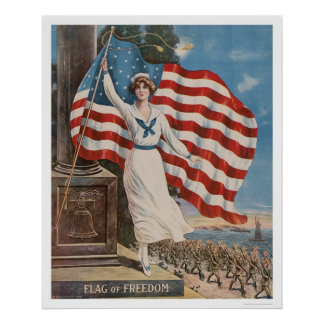 Flag of Freedom Poster