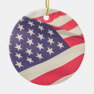 Flag of Freedom Round Ceramic Decoration