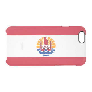 Flag of French Polynesia Clear iPhone Case