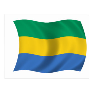 Flag of Gabon Postcard