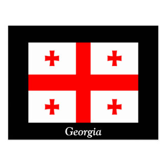 Flag of Georgia (country) Postcard
