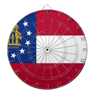 Flag Of Georgia Dartboard