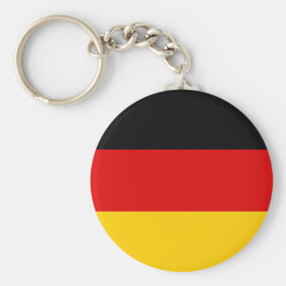 Flag of Germany - Bundesflagge und Handelsflagge Basic Round Button Key Ring