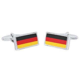 Flag of Germany Cufflinks Silver Finish Cufflinks