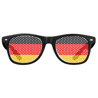 Flag of Germany, Fun German Flag Retro Sunglasses