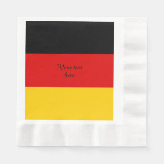 Flag of Germany or Deutschland Disposable Serviette