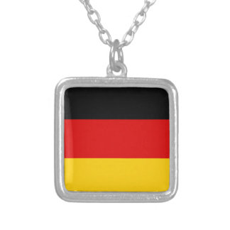 Flag of Germany or Deutschland Silver Plated Necklace