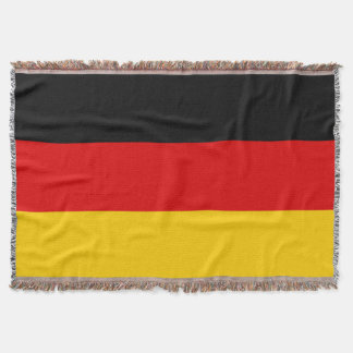 Flag of Germany or Deutschland Throw Blanket