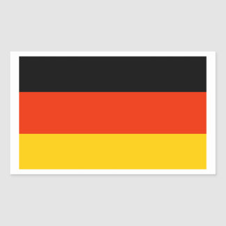 Flag of Germany Rectangular Sticker