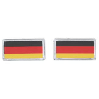 Flag of Germany Silver Finish Cufflinks