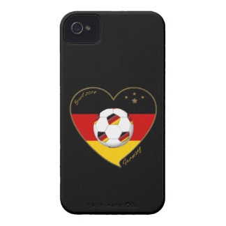 Flag of GERMANY SOCCER national selection 2014 iPhone 4 Case-Mate Cases